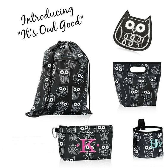 Hoot-Hoot! it's Owl Good with Thirty-One! This new print for fall 2016 is super cute!! #ThiortyOneGifts #It'sOwlGood #Monogram