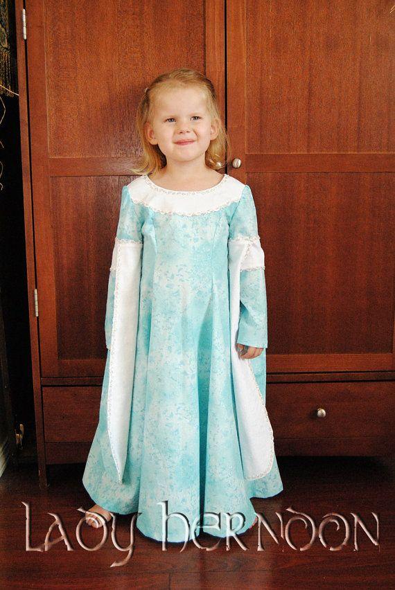 Ma Princess Bride : Bleu robe de Buttercup de la mariée de la princesse - tailles 2 t, 3 t, 4 t, 5, 6, 7, 8 et 10