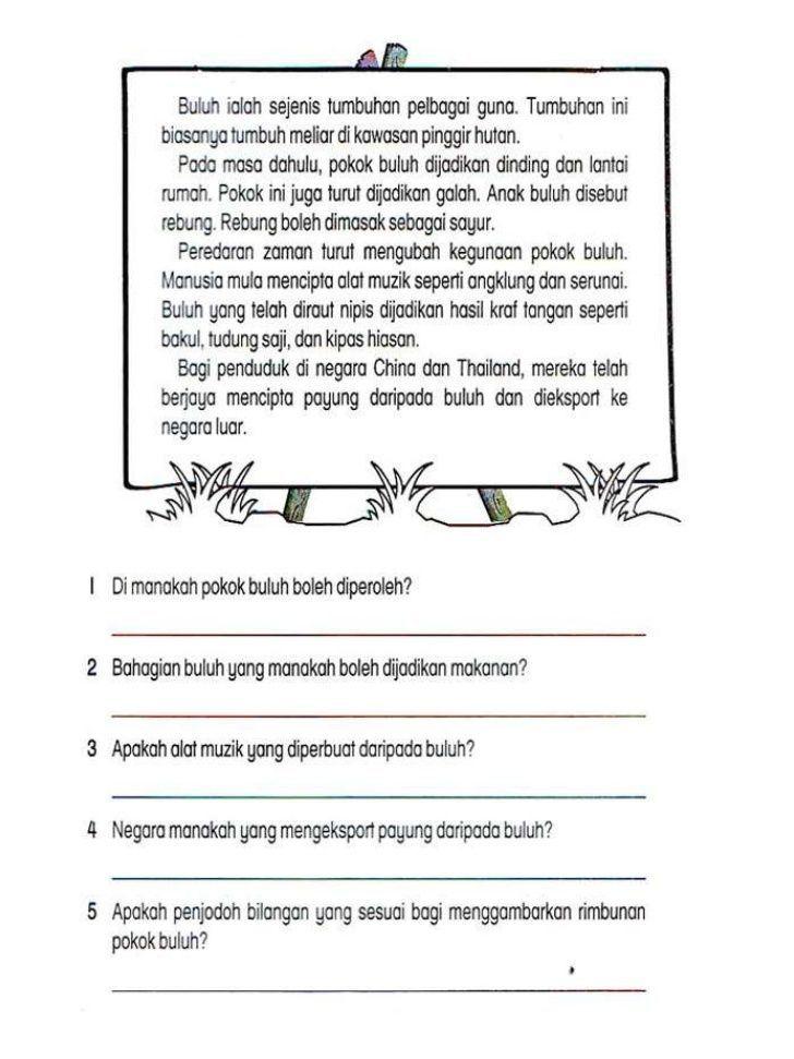 Contoh Latihan Bahasa Melayu Tahun 5 Google Search In 2020 Malay Language Math Activities Preschool Grammar And Vocabulary