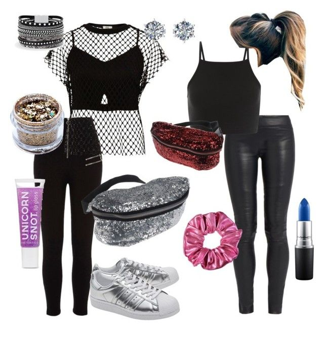 """How to wear a fanny pack"" by sydneym0418 on Polyvore featuring River Island, The Row, MM6 Maison Margiela, In Your Dreams, adidas Originals, White House Black Market and MAC Cosmetics"