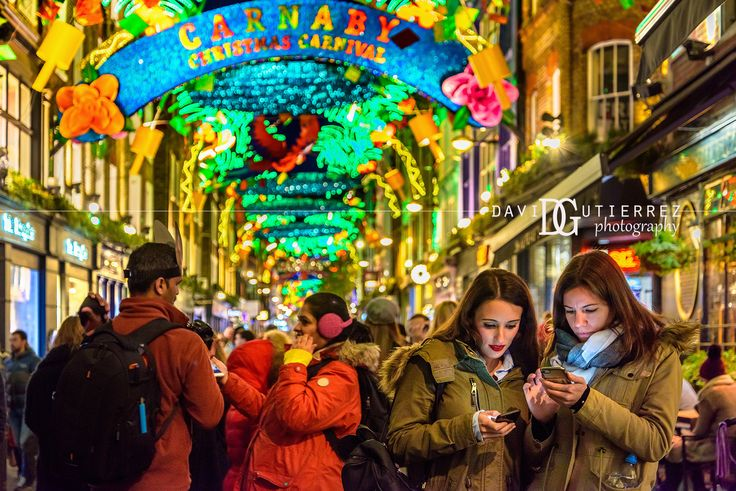 Christmas Spirit - Carnaby Street, London, UK. Image by David Gutierrez Photography, London Photographer. London photographer specialising in architectural, real estate, property and interior photography.  http://www.davidgutierrez.co.uk  #realestate #property #commercial #architecture #London #Photography #Photographer #Art #UK #City #Urban #Beautiful #Interior #Arts #Cityscape #Travel #Building #Christmas #CarnabyStreet #shopping