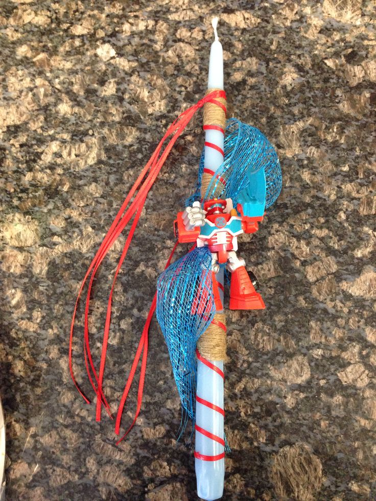 Transformers easter candle
