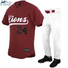 Baseball Uniform Set, Hito Elegant High Quality Custom Sportswear HE-BB-1020