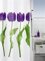 Tulip purple shower curtain