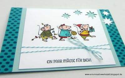 Geldgeschenk Karte mit Festtagsmäuse Stampin' Up…