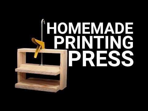 Simple Homemade Printing Press - YouTube
