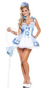 Blue Little Bo Peep Cutie Adult Womens Costume - 326714 | trendyhalloween.com #bopeep #littlebopeep #nurseryrhymes #halloweencostumes #womenscostumes #sexycostumes