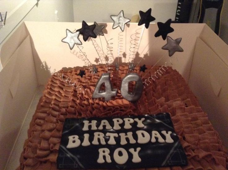 40th Birthday Chocolate Buttercream Frosted Cake decorated by Coast Cakes Ltd