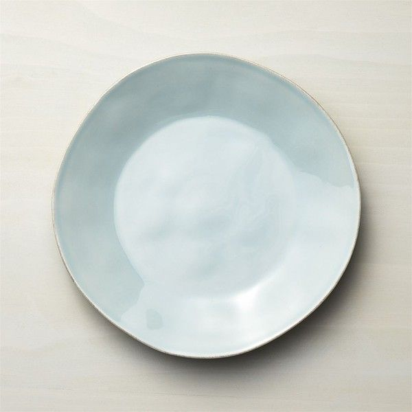 Crate & Barrel Marin Blue Dinner Plate ($7.96) ❤ liked on Polyvore featuring home, kitchen & dining, dinnerware, blue dinner plates, crate and barrel, ceramic dinnerware, blue dinnerware and ceramic dinner plates
