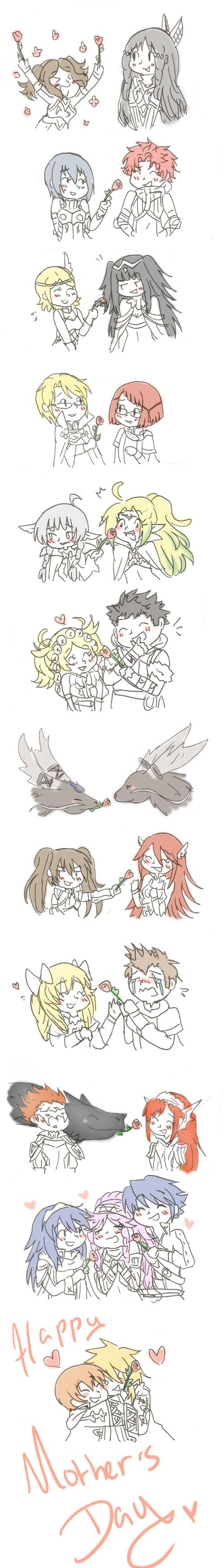 Fire Emblem : Happy Mother's Day by SparxPunx.deviantart.com on @DeviantArt THE PANNE AND YARNE ONE IS FAVE IT'S SO CUTE