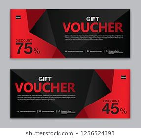Gift Voucher Template Sale Banner Horizontal เวกเตอร สต อก ปลอดค าล ขส ทธ 1256524393