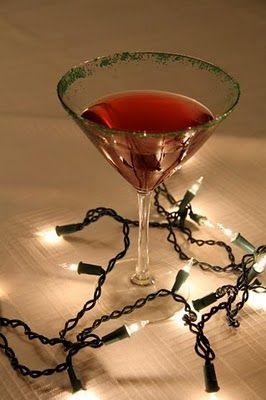 Holiday Cocktail Hour: Christmas Lights Martini