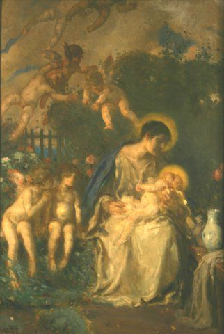 Madonna and Child with Putti, c. 1915, Carl von Marr, Museum of Wisconsin Art, 0291.