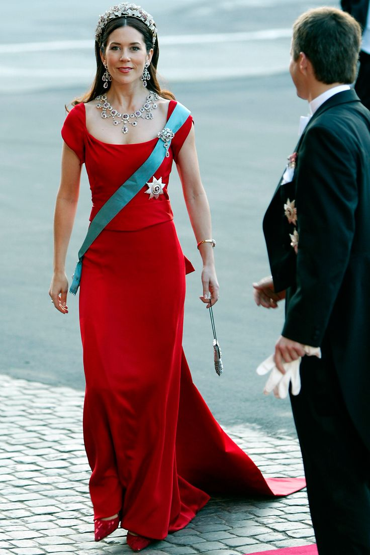 Bedazzled in jewels before her wedding, Mary Donaldson, now Crown Princess Mary of Denmark