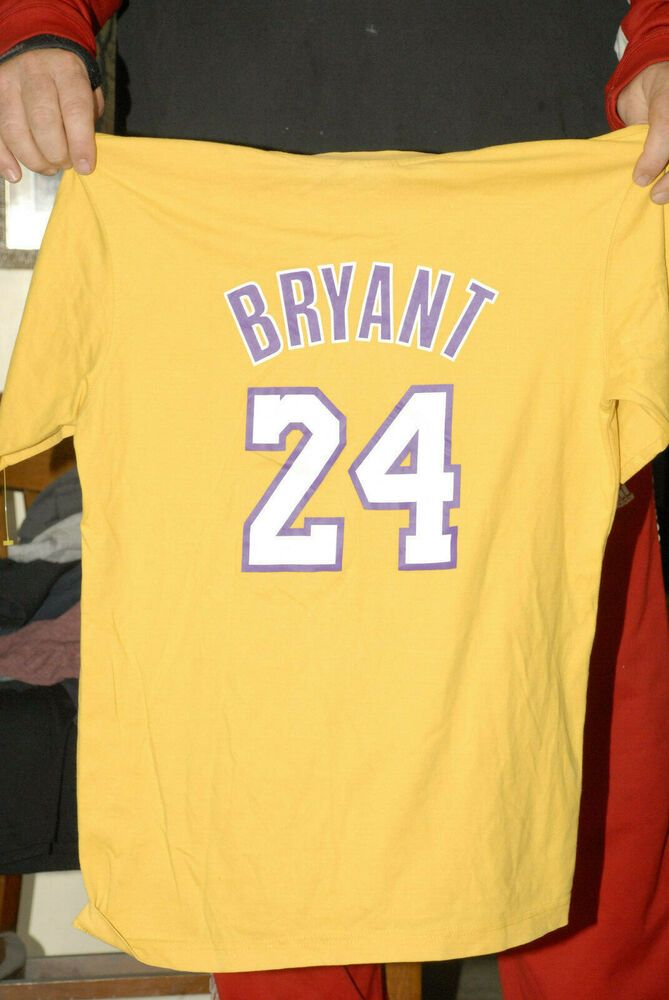 the best attitude 6ebd5 9639d KOBE BRYANT LOS ANGELES LAKERS T SHIRT JERSEY 24 GOLD YOUTH ...