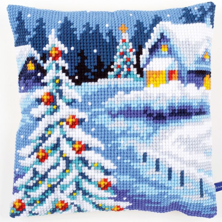 Winter Scenery - Cross-stitch cushion - Vervaco