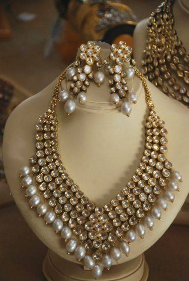 Kundan and Pearl - Jewelry