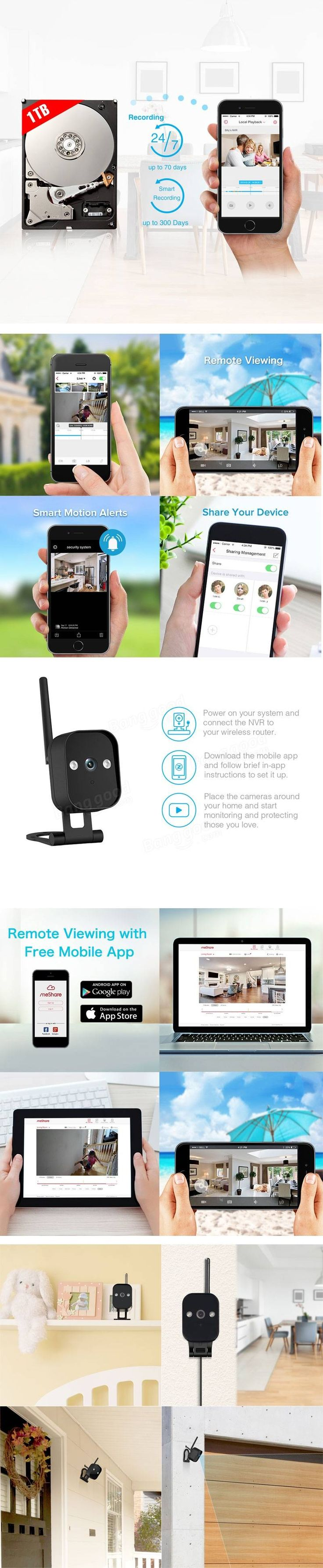 17 best ideas about wireless security system zmodo 720p 4ch smart home wireless security camera system night vision outdoor indoor 1tb wd hddtb hdd