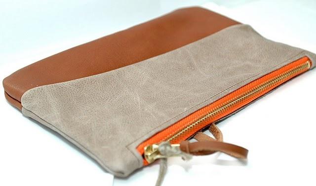 Handmade leather clutch by Kjær & Schmeling