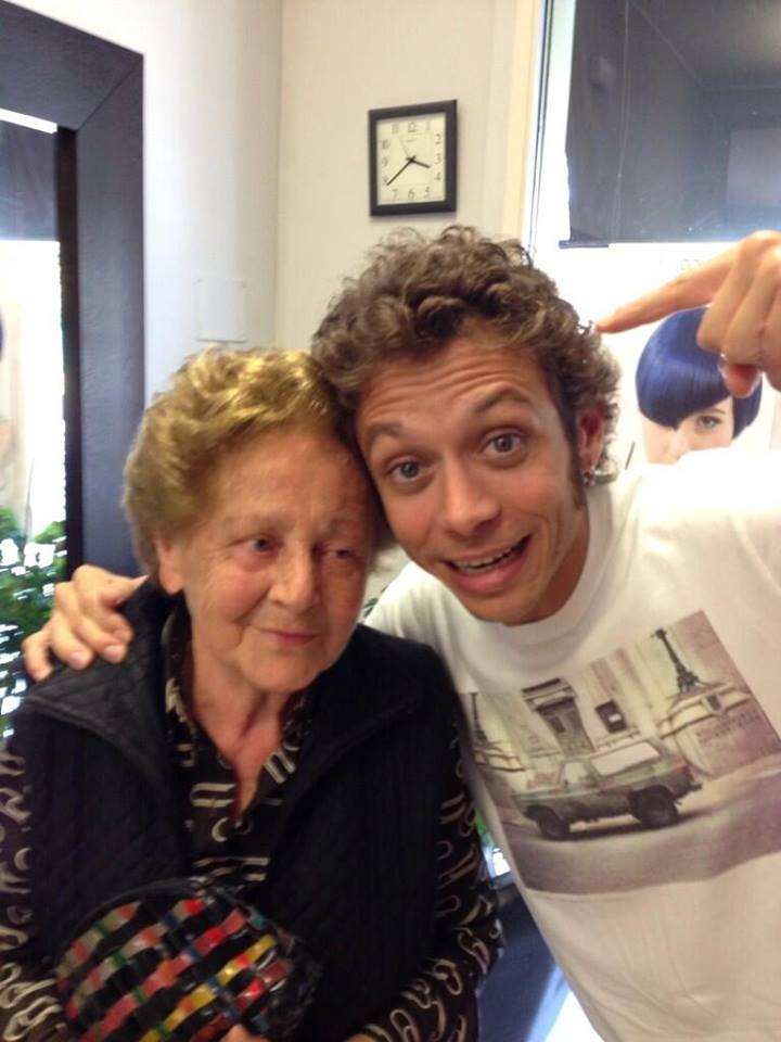 Valentino Rossi and his Grandmother