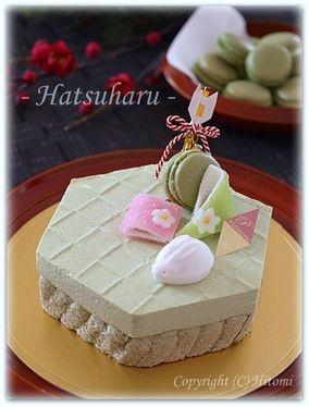 初春ムース(抹茶とホワイトチョコムース)☆ |レシピブログ