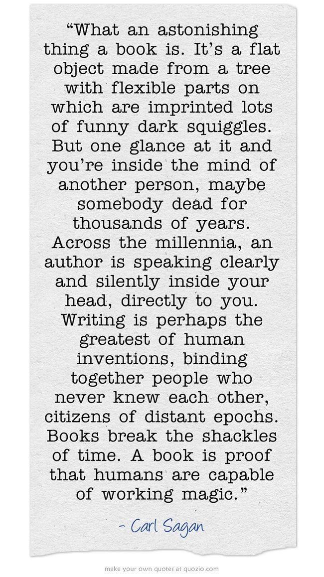 book quote - books are magic. So true..