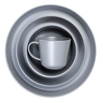 Fab Eat Dinnerware Gray 16Pc Set, $99, now featured on Fab.