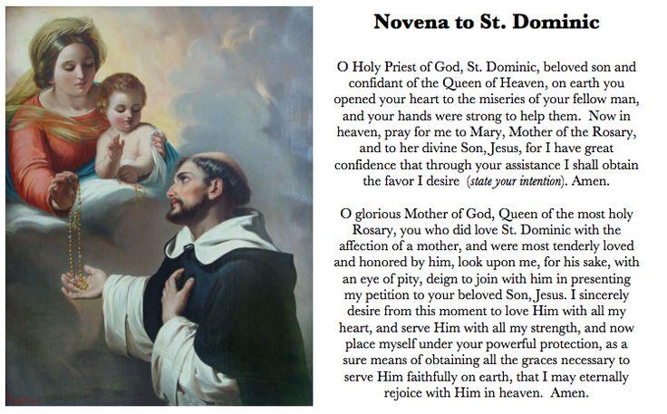 Novena to St. Dominic