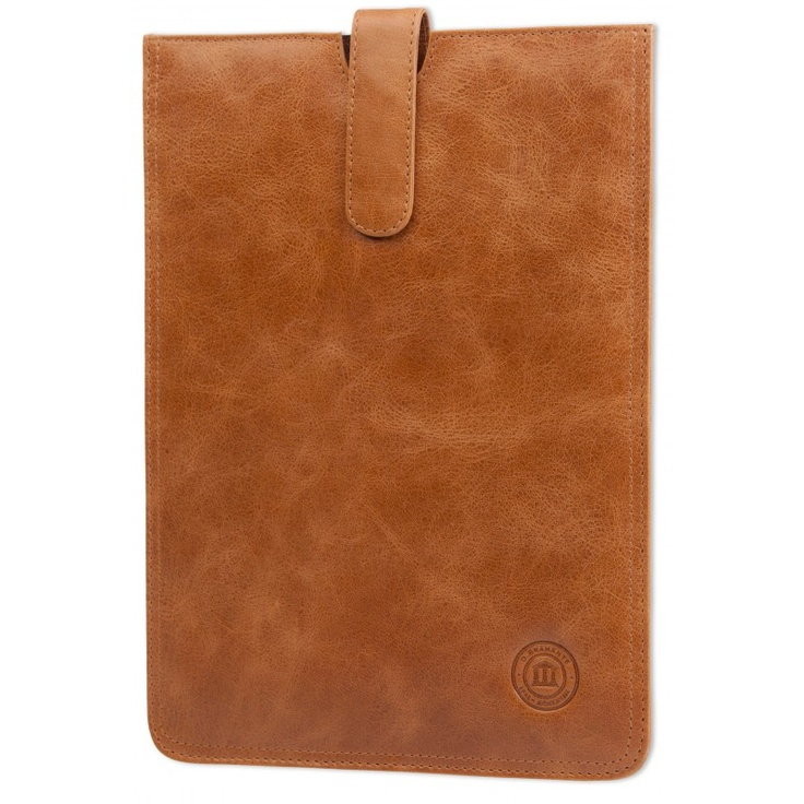 Golden tan leather slip-cover for Galaxy Tab II 7.0 and 10.1. Price: $60. More information: www.dbramante1928.com.