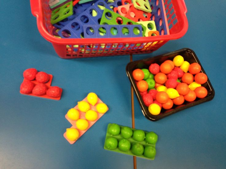 Numicon plus fruit- a fun counting activity!