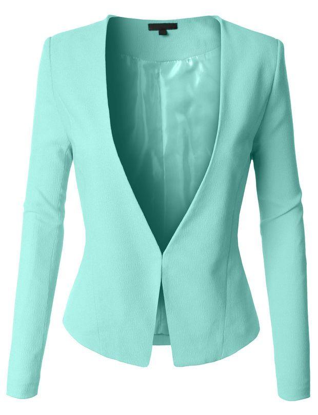 LE3NO Womens Textured Fully Lined Tuxedo Blazer Jacket