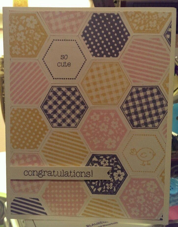 SU: Blushing Bride, Westeria Wonder, So Saffron, six sided sampler, hexagon punch