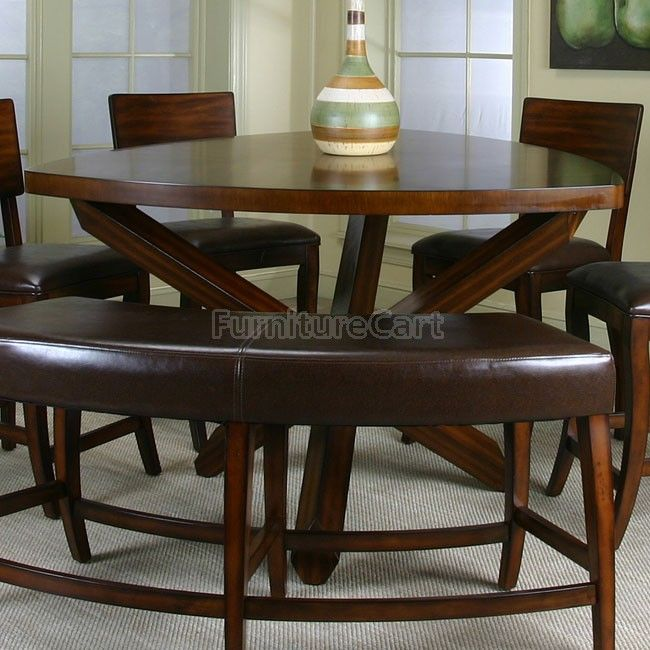triangle dining table got it for our dinette area love the bench - Kitchen Table Height