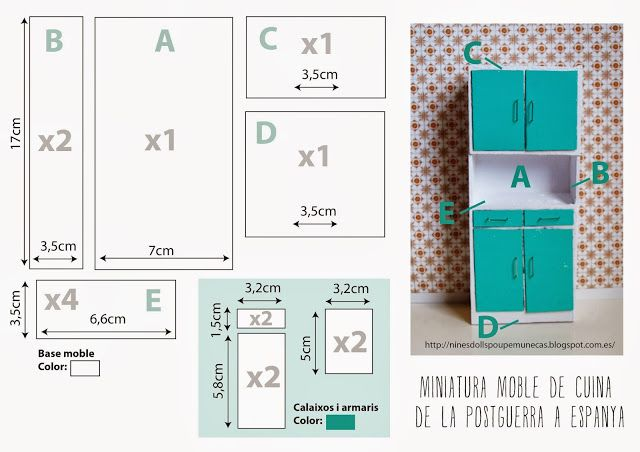 plano mueble miniatura