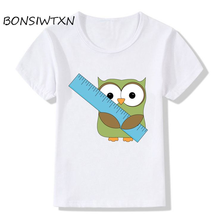 BONSIWTXN Hot T Shirt Children New Arrivals Owl Rule Printed kids Short Sleeve Casual Top Tees //Price: $17.31 //     #baby