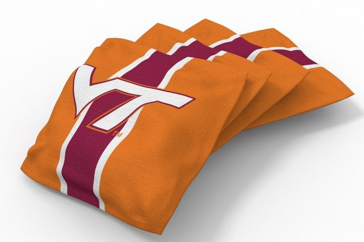 Virginia Tech Hokies Stripe Bean Bags-4pk (B)