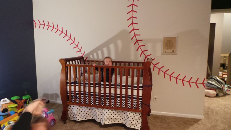 Baseball stitching Vinyl wall decal Sports vinyl decal by glassden, $80.00