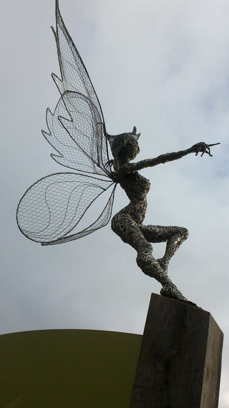 Fab Faries at Trentham Gardens!  I'm inspired to craft some chicken wire wings for a couple of fat little gnomes, lol!