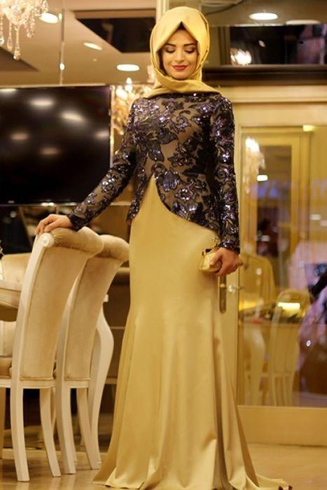 Pınar Şems Lacivert Saraylı Balık Abiye Elbise