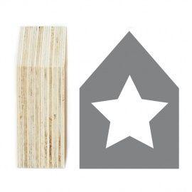 Houten huisje Star   ★ Houtprints   Sambi Woon en Mode Accessoires
