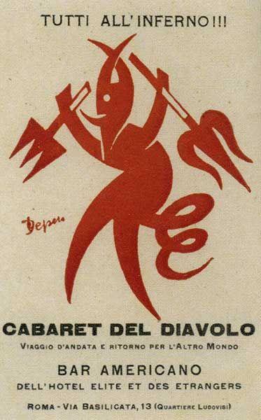 1922 Depero Cabaret del Diavolo