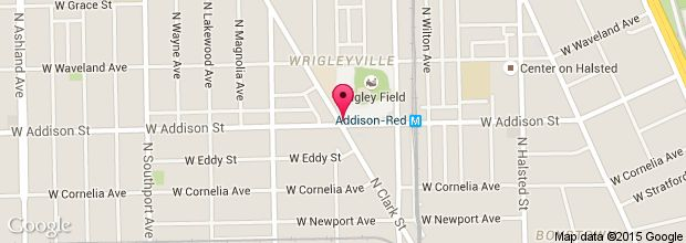 Map for Wrigley Field