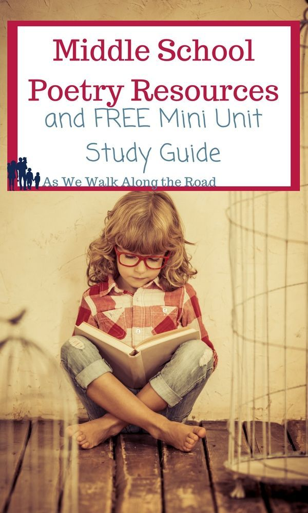 If you want to encourage your middle schoolers to read and create poetry, check out these resources and FREE mini unit study guide.