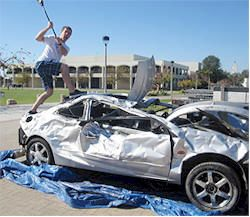 Car Smash Fundraiser. Holding a Car Smash as a fundraising event is a unique and fun way to let people take out their anger, on an inanimate object. The first step is to find a car to be smashed. Possible car donors could be a car dealership, junkyard or an insurance company. The only parts of the car that need to be in good condition are the body and glass.