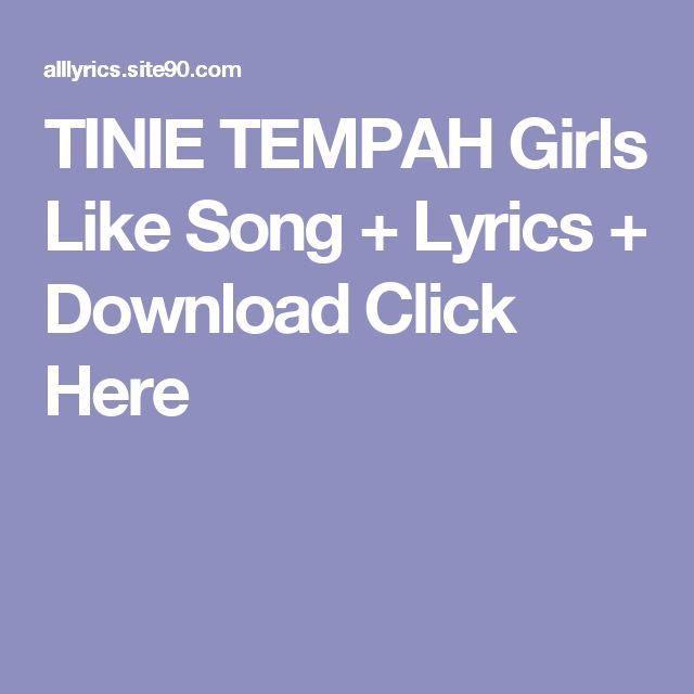 TINIE TEMPAH Girls Like Song + Lyrics + Download  Click Here