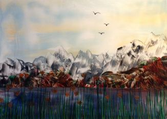 juliebouve | All about me myself and my hobby…Encaustic fantasy landscape