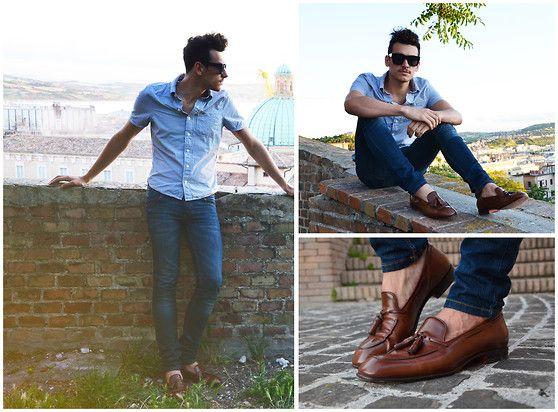 Santoni Shoes (by Davide Perella) http://lookbook.nu/look/3579027-Santoni-Shoes