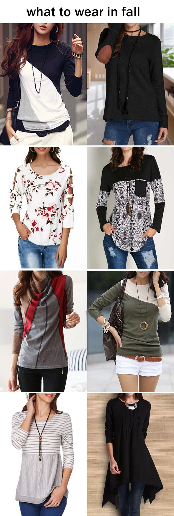 long sleeve t-shirts for women in fall, click the picture to buy them now!