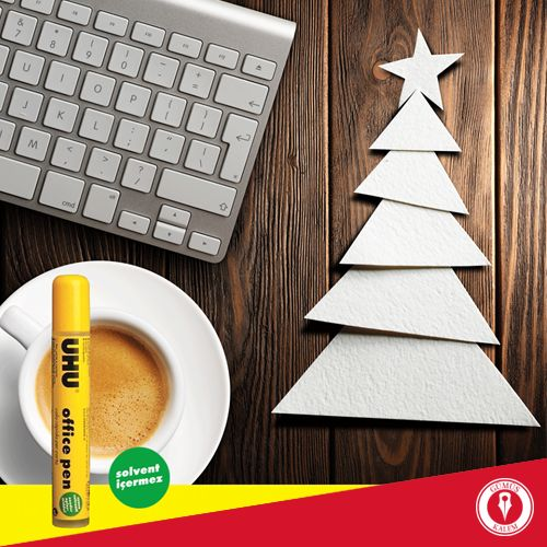 Ofiste bunu yapmaya başladıysanız yeni yıl çok yakında demektir! Solvent içermeyen Uhu Office Pen yapıştırıcı Gümüş Kalem mağazalarında ve www.gumuskalem.com.tr'de.