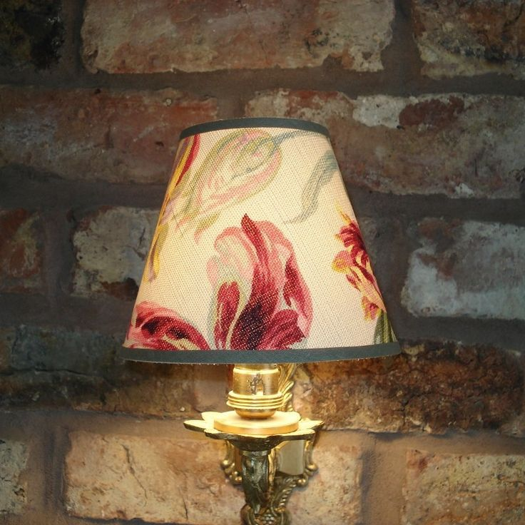 Candle Lamp Shades Shop: Laura Ashley Gosford Cranberry - Handmade Candle Clip Lampshade for Wall  lights/Chandeliers - Lampshades - Shop,Lighting